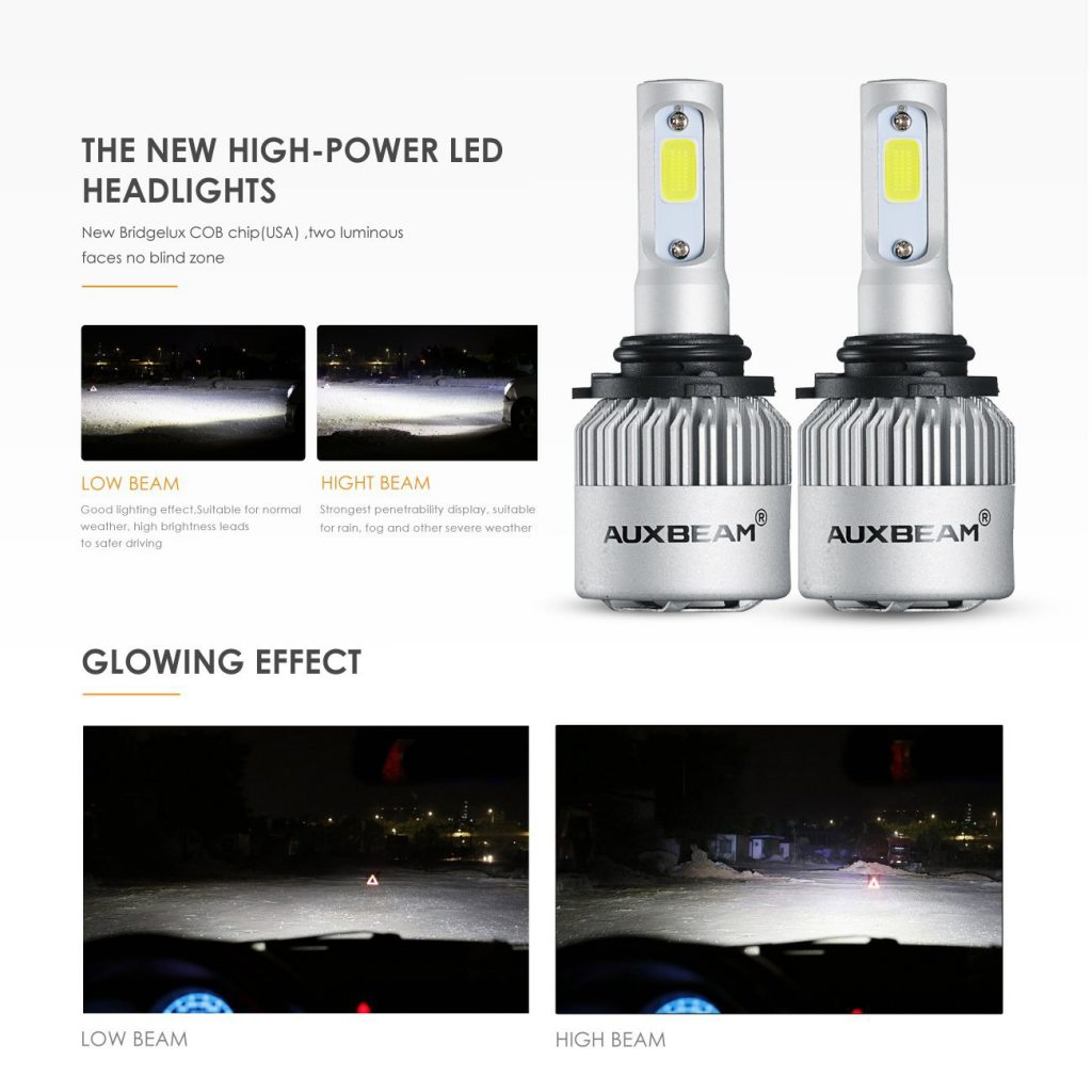 Auxbeam LED Headlights F-S2 Series 9006