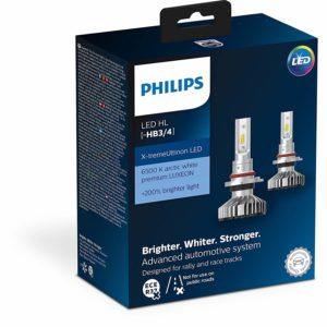 PHILIPS Xtreme Ultinon LED HB3 (9005) HB4 (9006) Car Headlight Bulbs 6500K